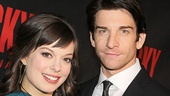 After the show, Rocky stage sweethearts Margo Seibert and Andy Karl head to the party at Roseland Ballroom!