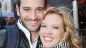 Violet star Colin Donnell and Lysistrata Jones alum Patti Murin enjoy a night out on Broadway.