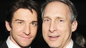 Andy Karl's former The Mystery of Edwin Drood co-star Gregg Edelman stops by to congratulate him.