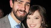 Rocky star Margo Seibert is thrilled her boyfriend, writer Jahn Sood, came to celebrate her first Broadway opening night.
