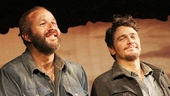 Of Mice and Men stars Chris O'Dowd (Lennie) and James Franco (George) take in their big moment.
