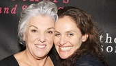 Tyne Daly pulls her former Judging Amy co-star Amy Brenneman in for a photo.