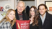 The Bridges of Madison County headliners Kelli O'Hara and Steven Pasquale flank stage and screen star Victor Garber and singer-songwriter Sara Bareilles.