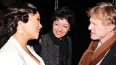 Robert Redford and his wife Sibylle Szaggars greet Vanessa Williams backstage.