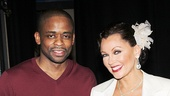 Williams takes a snapshot with her new co-star, After Midnight's Dule Hill.