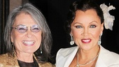 Roseanne Barr greets After Midnight star Vanessa Williams.