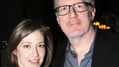 The Realistic Joneses star Tracy Letts with his wife, Tony nominee Carrie Coon.