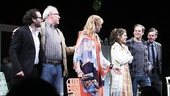 Director Sam Gold, Joneses stars Tracy Letts, Toni Collete, Marisa Tomei and Michael C. Hall, and playwright Will Eno.