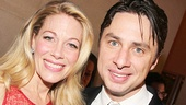 After the show, Bullets headliners Marin Mazzie and Zach Braff enjoy the starry party at the Metropolitan Museum of Art.