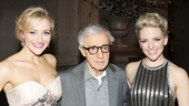 Woody Allen is surrounded by two of his talented leading ladies, Bullets stars Betsy Wolfe and Helene Yorke.