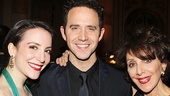 Santino Fontana is flanked by his girlfriend, actress Jessica Hershberg and Andrea Martin.