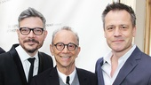 Inishmaan producer James Bierman and director Michael Grandage flank Tony winner Joel Grey.
