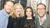 Broadway husband-and-wife duo Darren Goldstein and Katie Finneran hang out with Inishmaan producer Arielle Tepper Madover and her husband Ian  on opening night.