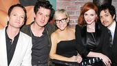 Hedwig star Neil Patrick Harris hangs out with violinist Christian Hebel, actress Rachael Harris, Mad Men star Christina Hendricks and her actor husband Geoffrey Arend.