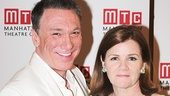 Casa Valentina star Patrick Page (George/Valentina) takes a snapshot with his on-stage wife Mare Winningham (Rita).