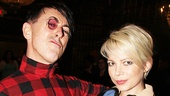 After the show, Alan Cumming and Michelle Williams are ready to party!