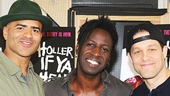 Holler If Ya Hear Me – Meet and Greet – OP – 5/14 - Christopher Jackson - Saul Williams - Ben Thompson