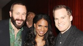 Of Mice and Men star Chris O'Dowd, Lady Day headliner Audra McDonald and Michael C. Hall of The Realistic Joneses take a starry snapshot.
