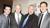 Beautful star Jarrod Spector with Casa Valentina's Reed Birney, Harvey Fierstein and Gabriel Ebert.