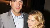 The Glass Menagerie reunion! Zachary Quinto and Celia Keenan-Bolger catch up.