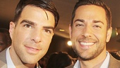 Zachs unite! The Glass Menagerie alum Zachary Quinto and First Date's Zachary Levi hang out.