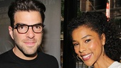 The Glass Menagerie alum Zachary Quinto and A Raisin in the Sun star Sophie Okonedo.