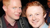 Modern Family star Jesse Tyler Ferguson with The Cripple of Inishmaan's Conor MacNeill.