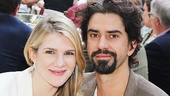 Much Ado About Nothing co-stars Lily Rabe and Hamish Linklater.