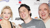 Bullets Over Broadway stars Helene Yorke, Nick Cordero, Betsy Wolfe, Zach Braff and Lenny Wolpe.