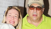 Bullets Over Broadway stars Marin Mazzie and Vincent Pastore.