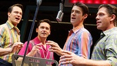 Matt Bogart as Nick Massi, Ryan Molloy as Frankie Valli, Drew Gehling as Bob Gaudio & Richard H. Blake as Tommy DeVito in Jersey Boys