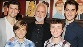 John Rubinstein with Pippin star Kyle Dean Massey, Kyle Selig, who will play Pippin in the national touring production beginning September 10, and Lucas Schultz and Zachary Mackiewicz, who will alternate the role of Theo.