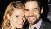 Celia Keenan-Bolger, who starred in The Glass Menagerie at A.R.T. and ventured into Peter Pan territory in Peter and the Starcatcher, with leading man Jeremy Jordan.