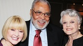 You Can't Take It With You star James Earl Jones and his wife Cecilia catch up with Angela Lansbury—the duo starred in The Best Man together in 2012.