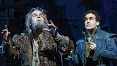 Brad Oscar as Nostradamus & Brian d'Arcy James as Nick Bottom in Something Rotten!