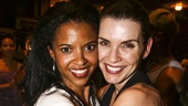 Hamilton - backstage - 8/15 - Renee Elise Goldsberry and Julianna Marguiles