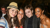 Hamilton - backstage - 8/15 - Phillipa Soo, Jasmine Cephas Jones and Renee Elise Goldsberry with Lena Dunham