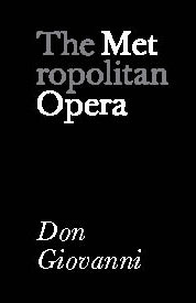 Poster for Metropolitan Opera: Don Giovanni