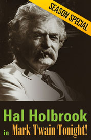 Poster for Hal Holbrook in Mark Twain Tonight!