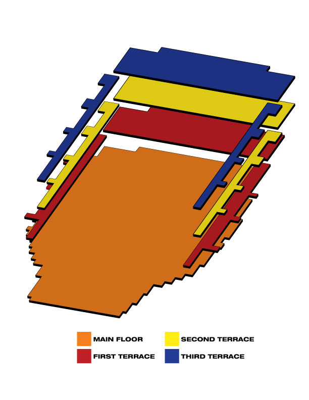 Seatmap for Clowes Memorial Hall