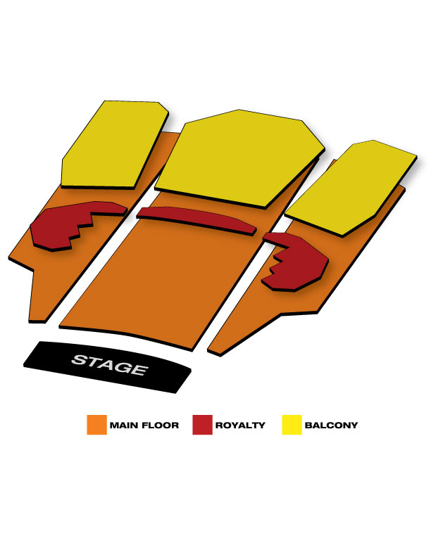 Seatmap for Murat Theatre at Old National Centre