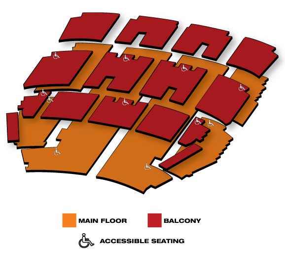 Seatmap for Blue Man Group