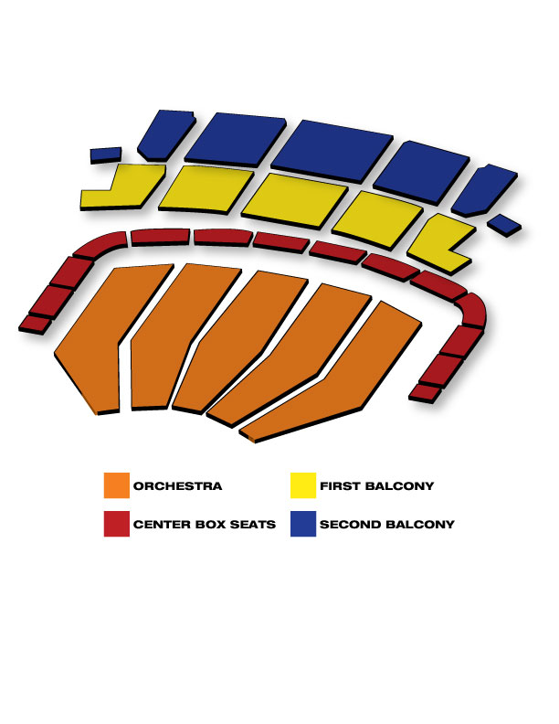 Seatmap for Keller Auditorium