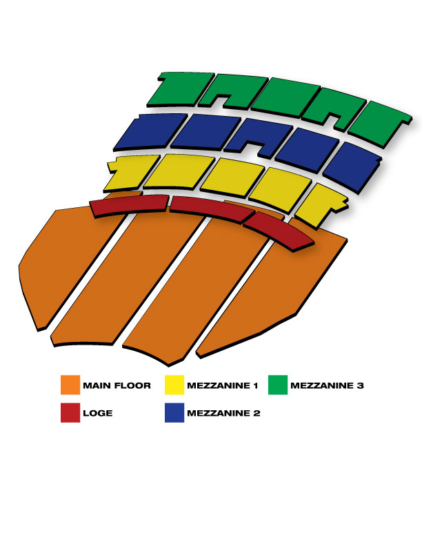 Seatmap for The Paramount Theatre