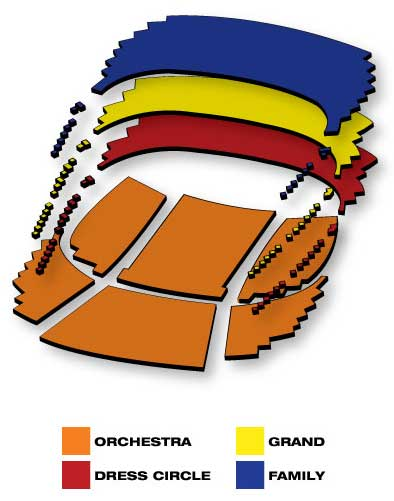 Seatmap for Elf the Musical