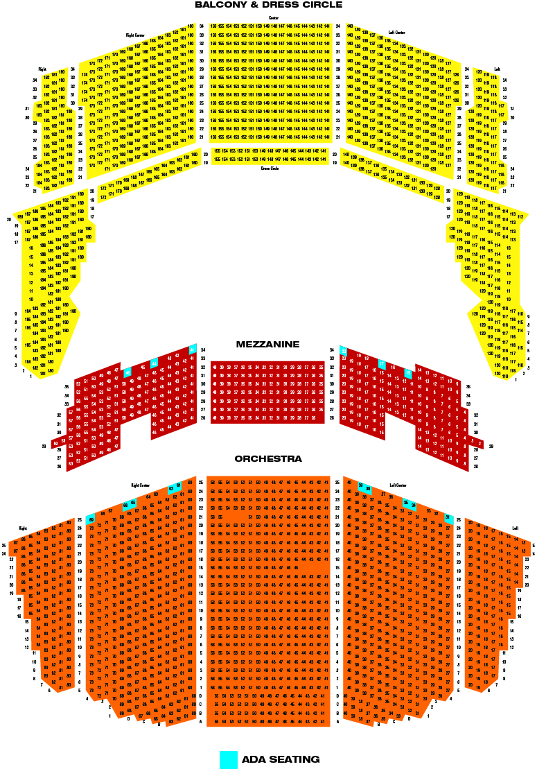 Queen Elizabeth Theater Vancouver Seating Chart Microsoft