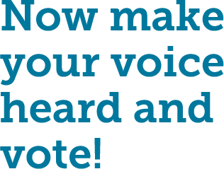 Now make your voice heard and vote!