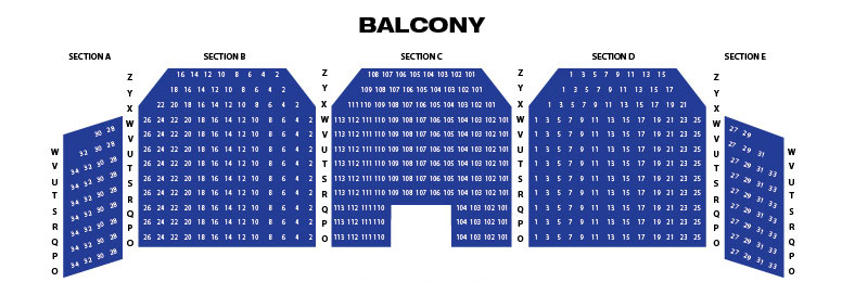 Ohio theatre seating chart