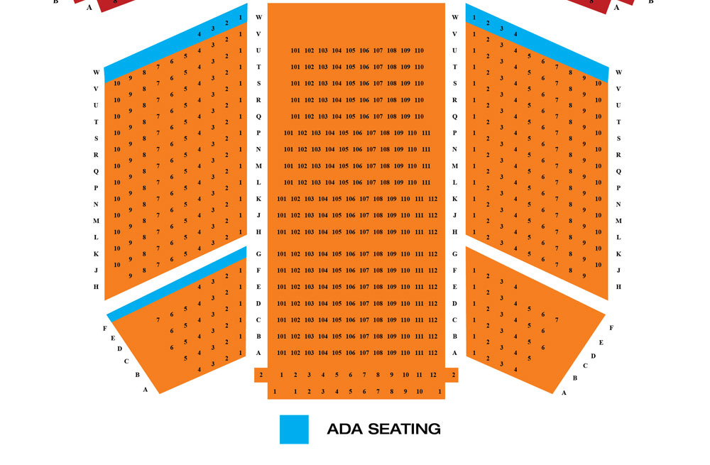 Pantages theatre seating chart