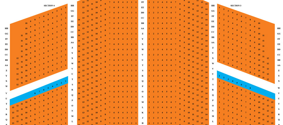 Orpheum seating chart